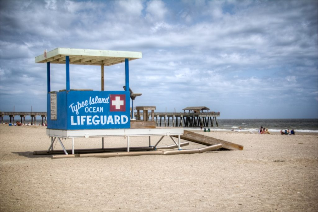 Tybee lifeguards stations.